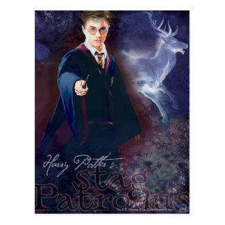 Het Mannetje Patronus van Harry Potter's Briefkaart