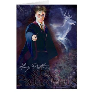 Het Mannetje Patronus van Harry Potter's Wenskaart