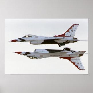 Het Manoeuvre van Thunderbirds - Spiegel Poster