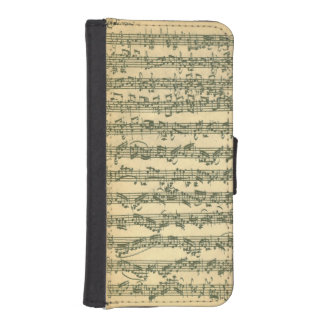 Het Manuscript van Chaconne van Bach iPhone 5 Portemonnee Hoesje
