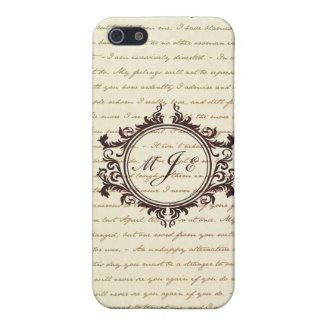 Het Manuscript van de Initialen van het Monogram iPhone 5 Case