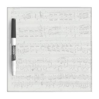 Het Manuscript van de Muziek van de Piano van de P Whiteboard