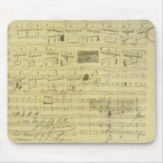 Het manuscript van Frederic Chopin mousepad Muismatten
