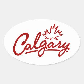 Het Manuscript van het Blad van Calgary Ovale Sticker
