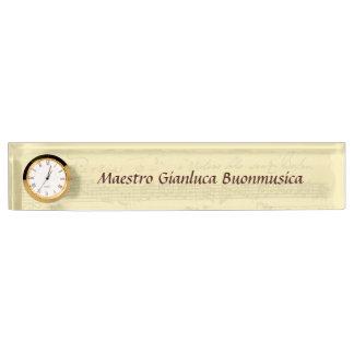 Het Manuscript van Partita van Bach Naambord
