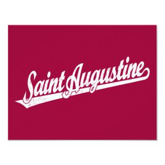 Het manuscriptlogo van heilige Augustine in 10,8x13,9 Uitnodiging Kaart