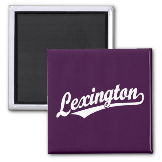Het manuscriptlogo van Lexington in wit Magneet
