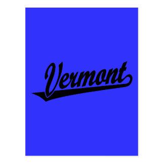 Het manuscriptlogo van Vermont in zwarte Briefkaart