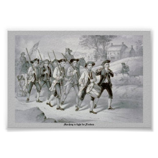 Het marcheren om voor Vrijheid te vechten Poster