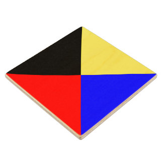 Het mariene Zoeloes Symbool van de Brief Z van het Houten Onderzetter