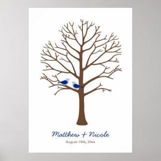 Het marineblauwe Bruine Huwelijk van de Boom van d