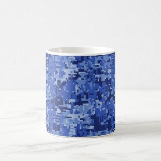 Het marineblauwe Digitale Decor van de Textuur van Koffiemok