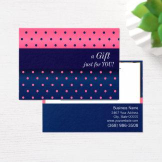 Het marineblauwe en Roze Certificaat van de Gift Visitekaartjes