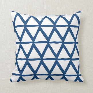 Het marineblauwe Geometrische Decoratieve Sierkussen
