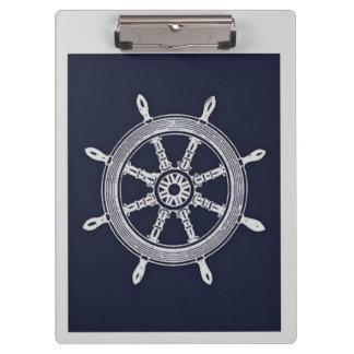Het marineblauwe & Grijze Wiel van het Schip Klembord
