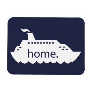Het marineblauwe Huis van het Schip van de cruise Magneet