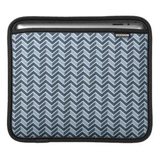 Het marineblauwe Patroon van de Chevron iPad Sleeves
