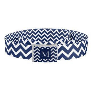 Het marineblauwe & Witte Patroon van de Zigzag van Riem