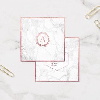 Het Marmer van PixDezines+DIY Faux nam Gouden Vierkante Visitekaartjes