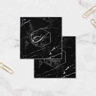 Het Marmer van PixDezines+Elegante Zilveren Vierkante Visitekaartjes