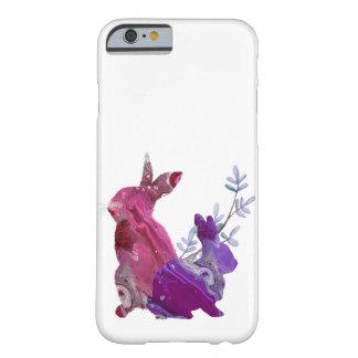 Het marmeren Roze Paarse Konijn van het Konijntje Barely There iPhone 6 Hoesje