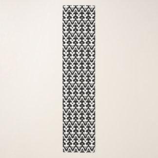 Het Marokkaanse Zwart-witte Patroon van het Damast Sjaal