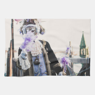 Het masker van Carnaval in Venetië Theedoek