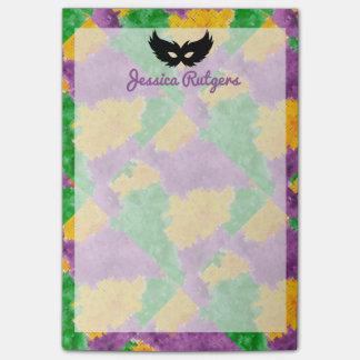 Het Masker van de Camouflage van Gras van Mardi Post-it® Notes
