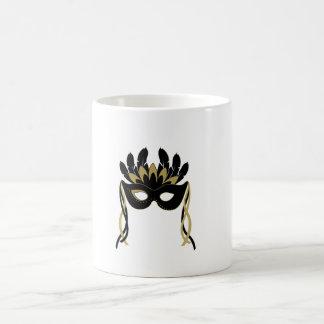 Het Masker van de maskerade in Zwarte en Gouden Koffiemok
