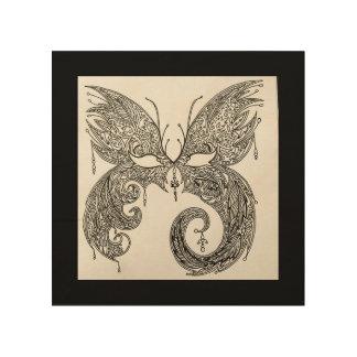 Het Masker van de Maskerade van de vlinder Hout Afdrukken
