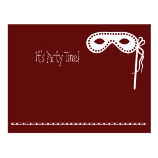 Het Masker van de partij nodigt uit Briefkaart