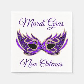 Het Masker van Gras New Orleans van Mardi Wegwerp Servetten