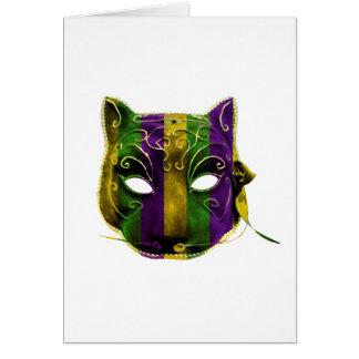 Het Masker van Mardi Gras van Catwoman Briefkaarten 0