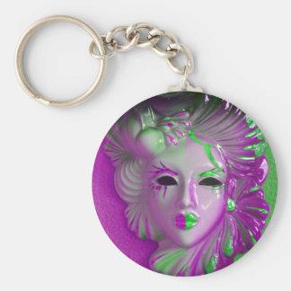 Het Masker van Venetië Carnaval Basic Ronde Button Sleutelhanger