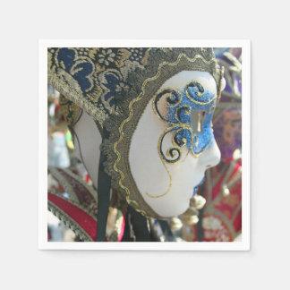 Het masker van Venetië Carnaval Wegwerp Servetten