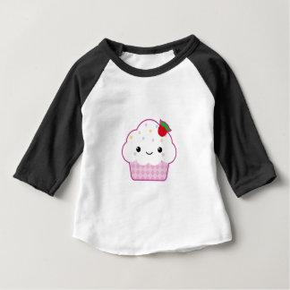 Het Materiaal van het Baby van Cupcake van Kawaii Baby T Shirts