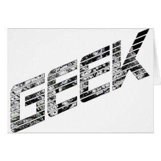 Het Materiaal van Techie van Geek Wenskaart