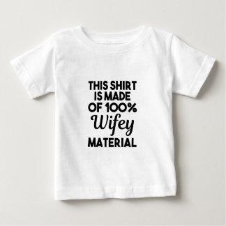 Het Materiaal van Wifey Baby T Shirts