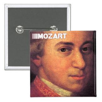 Het Materiaal van Wolfgang Amadeus Mozart Vierkante Button 5,1 Cm