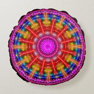 Het Medaillon van het neon Rond Kussen