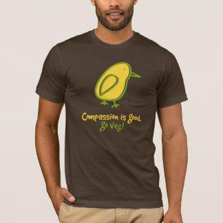 Het medeleven is Goed. Ga Veg. T Shirt