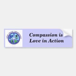 Het medeleven is Liefde in de Sticker van de Bumpe