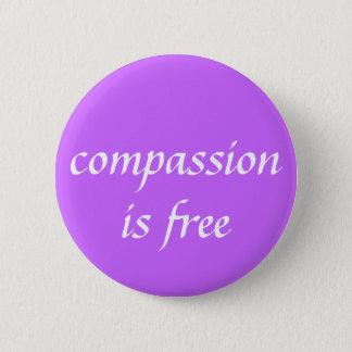 het medeleven is vrij ronde button 5,7 cm