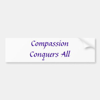 Het medeleven verovert Al bumpersticker