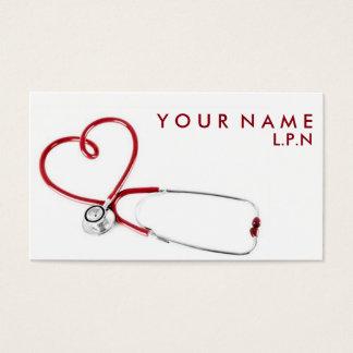 Het medelevende Visitekaartje van de Verpleegster Visitekaartjes