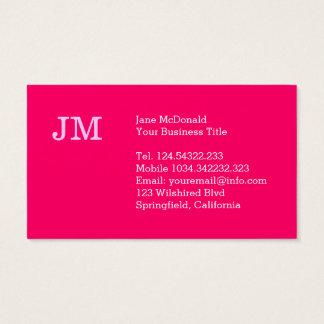Het medio Moderne Minimalistische Roze van de Eeuw Visitekaartjes