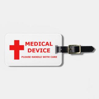 Het medische Materiaal van het Apparaat Bagagelabel