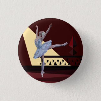 Het 'meer Ballerina van de zwaan Ronde Button 3,2 Cm