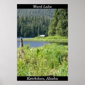 Het Meer van de afdeling in Ketchikan, Alaska Poster