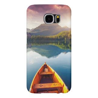 Het meer van de berg in Nationaal Park Hoge Tatra Samsung Galaxy S6 Hoesje